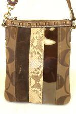 Coach E06W-10266 Python Patent Leather Suede Crossbody Shoulder Sling Bag