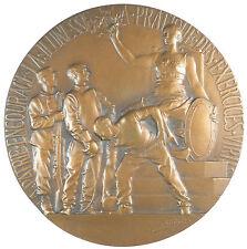 France PATRIE ENCOURAGE LA JEUNESSE by Rivet large artist's model  bronze 125mm