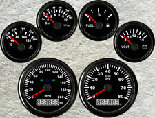 6 Gauge set,GPS 200MPH Speedo With Light,Tachometer,Fuel,Temp,Volts,Oil Pressure
