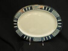 "Mikasa Potter's Craft FIRESONG HP300 Blue/Green 14"" Oval Serving Platter, Japan"