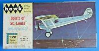 1965 HAWK SPIRIT OF ST. LOUIS MODEL PLANE KIT ~ VINTAGE 1/72 SCALE