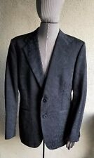 Evening Elegant ROBERTO CAVALLI Black Jaguar Jacquard Jacket SZ 54 Made Italy
