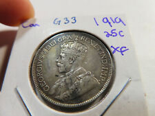 G33 Canada 1919 25 Cents XF