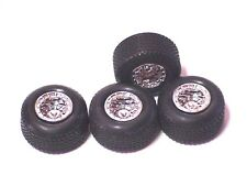 Blank Racecar Tires for 1/24 Scale model racecars rubber style with tread