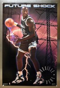 """Shaquille O'Neal Orlando Magic Authentic Autographed Future Shock 35""""x23"""" Poster"""