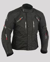 Veste Moto Imperméable Protection Ce Doublure Textile Blouson Noir Taille 2XL