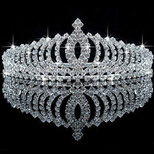 Bridal Flower Prom Wedding Pageant Rhinestone Crystal Pearl Crown Tiara