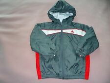 Boy's size 4T Gray Red & White  Hoodie Wind Jacket
