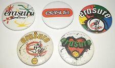 5 Erasure button Badges 80's new wave romance Gay Interest A Little Respect