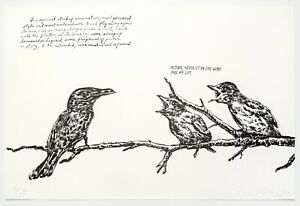 Raymond Pettibon: Untitled (Mother, Never Let...), 2000. Signed, Numbered Print
