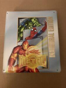 Marvel Comics 1995 Metal Binder And Over 600 Cards. 1 Signed. Incomplete Sets