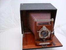 Antique Manhattan Optical Co. Wizard B SR Folding Box Camera w/Wood Interior