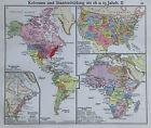 Kolonien und Staatenbildung - alte Karte aus 1922 old map