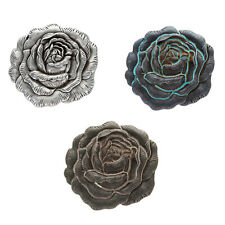 Replacement Buckle Women Cowgirl Punk Antique Rose Flower Engraved Belt Buckles