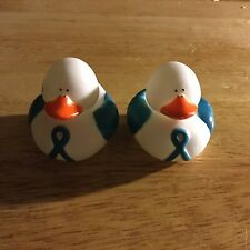 (2) Ovarian/Cervical Cancer Awareness Rubber Ducks ***FREE SHIPPING***