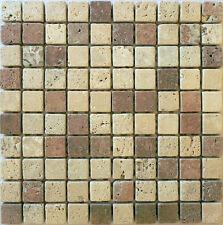 Rosone rosoni incollati su rete piastrelle in marmo 31x31 con tessere 3x3 mix