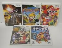 5 Game Lot Nintendo Wii / Wii U~ Bakugan Drawn Life Spore Hero Dragon Counter