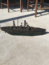 Orkin Craft Battleship New Mexico Clock WorK Bing Germany Large Circa 1915