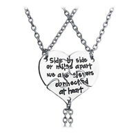 Best Friends Forever Heart Sisters Necklace Chain Xmas Gift For Women ONE