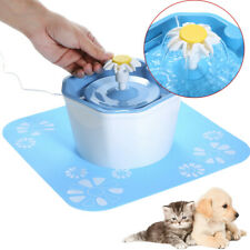 1.6L Automatic Pet Water Fountain Electric Dog Cat Drinking Bowl Dispenser T3P7