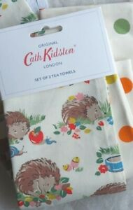 Cath Kidston Hedgehog Tea Towel Set.