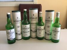 Lot of 4 Empty Laphroaig Sotch Whiskey Bottles with Caps **FREE SHIPPING**