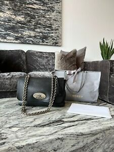 Mulberry Medium Lily Black with Silver Hardware