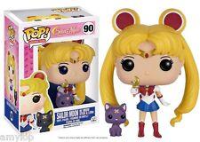 FUNKO POP! Sailor Moon with Moon Stick & Luna #90 US Exclusive