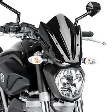 Windschild Puig Sport Yamaha MT-07 13-17 schwarz Windschutzscheibe
