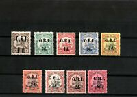 ERMANY COLONIES NEW-GUINEA Lot BRITISH OCCUPATION.Mi.1-9 SIGNED