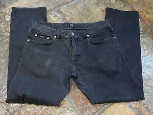 """Designer Hugo Boss Mens Charcoal Jeans 36"""" Waist 32"""" Leg Regular Fit"""