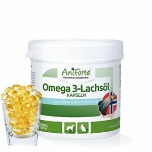 AniForte Omega 3- Lachsöl Kapseln 200 Stk. - Naturprodukt für Hunde und Katzen