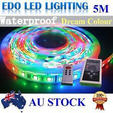 5m 5050 RGB Dream Color LED Strip Light 133 Functions RF Remote Power Supply