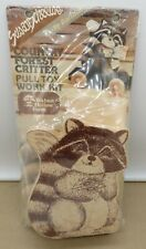 Vintage Walnut Hollow Country Forest Critter Wood Pull Toy Kit Raccoon Sealed