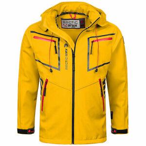 Arctic Seven Herren Softshell Funktions Outdoor Regen Jacke Gelb L R607