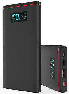 12000 MAH USB-C Quick Charge Portable Power Bank with LED for Sonim XP5s XP8
