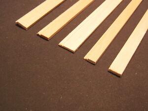 "Baseboard 4 molding basswood dollhouse trim 1/12 scale MW12001  3pcs 23"" long"