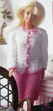 "Chic Suit 11 1/2"" Barbie Fashion Doll Sweater & Skirt CROCHET PATTERN"