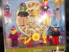 THE BEATLES K'NEX YELLOW SUBMARINE MODEL FIGURES & INSTRUMENTS ALL 4 FAB FOUR
