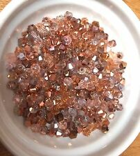100 Austrian Crystal Glass Bicone Beads - Light Rose Gold Mix- 4mm