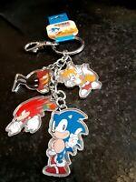 SEGA Sonic The Hedgehog  Metal Key Ring Chain Keyring Keychain Knuckles Tales
