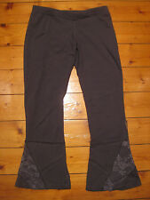LUNA DESIGN grey patchwork lace yoga leggings NEW funky fairy S BNWT festival