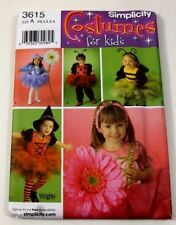 Simplicity 3615 Halloween Costumes Pattern New 5 Different Size A 6 Months To 4