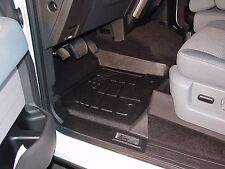 Front & Second Row Black Floor Mats for a 2011 - 2014 Ford F150 Super Crew