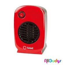 NEW Ceramic Heater Personal Portable Soleil Electric Space Heater Small - Red