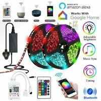 5/10M RGB 5050 LED Wifi Strip Lights DC 12V Smart Home App for Alexa Google Home