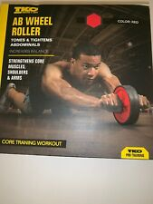 Tko Ab Wheel Exercise Roller Core Training Workout Black/Red