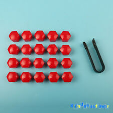 20x Red Wheel Lug Nut Center Cover Cap Removal Tool For VW Audi Skoda BMW Benz