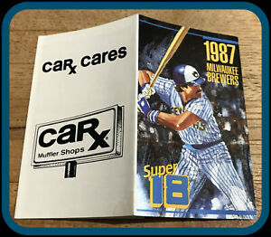 1987 MILWAUKEE BREWER CAR X POCKET SCHEDULE EX+NM CONDITION