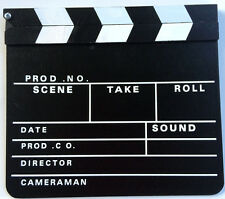 "12"" LARGE HOLLYWOOD MOVIE CLAPPER BOARD Director Camera Prop Wood Film Slate TV"
